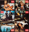 "Movie Posters:James Bond, Goldfinger (UIP, R-1980s). German Lobby Cards (6) (8.25"" X 11.75""). James Bond.. ... (Total: 6 Items)"