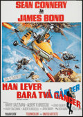 """Movie Posters:James Bond, You Only Live Twice (United Artists, 1967). Swedish One Sheet(27.5"""" X 39.5""""). James Bond.. ..."""