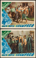 "Movie Posters:Western, The Big Stampede (Vitagraph, 1932). Lobby Cards (2) (11"" X 14"").Western.. ... (Total: 2 Items)"