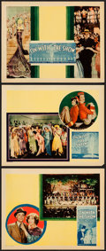 "Movie Posters:Musical, On with the Show! (Warner Brothers, 1929). Lobby Cards (3) (11"" X 14""). Musical.. ... (Total: 3 Items)"