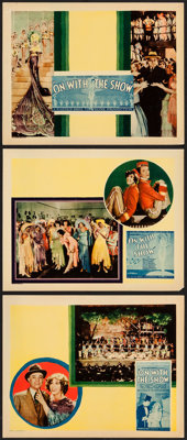 "On with the Show! (Warner Brothers, 1929). Lobby Cards (3) (11"" X 14""). Musical. ... (Total: 3 Items)"