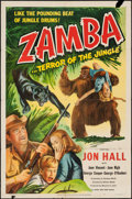 "Movie Posters:Adventure, Zamba (Eagle Lion, 1949). One Sheet (27"" X 41""). Adventure.. ..."