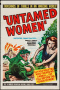"Movie Posters:Science Fiction, Untamed Women (United Artists, 1952). One Sheet (27"" X 41"").Science Fiction.. ..."