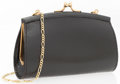 "Luxury Accessories:Accessories, Judith Leiber Black Lizard Evening Bag. Very Good Condition. 5""Width x 3"" Height x 1"" Depth. ..."