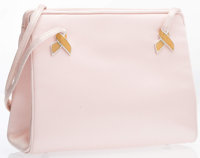 "Judith Leiber Pink Satin Evening Bag Very Good to Excellent Condition 6"" Width x 5"" Height x 1.5"""