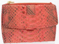 "Luxury Accessories:Accessories, Judith Leiber Pink Python Card Case. Good Condition. 4"" Width x 3"" Height. ..."