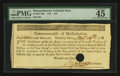 Colonial Notes:Massachusetts, Massachusetts November 24, 1781 $16 Fr. MA-289 PMG Choice ExtremelyFine 45 EPQ.. ...