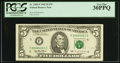 Small Size:Federal Reserve Notes, Serial Number 1 Fr. 1985-F $5 1995 Federal Reserve Note. PCGS Very Fine 30PPQ.. ...