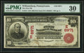 National Bank Notes:Pennsylvania, Williamsburg, PA - $10 1902 Red Seal Fr. 613 The First NB Ch. #(E)6971. ...