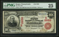 National Bank Notes:Pennsylvania, Bangor, PA - $10 1902 Red Seal Fr. 613 The First NB Ch. # (E)2659....
