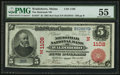 National Bank Notes:Maine, Waldoboro, ME - $5 1902 Red Seal Fr. 587 The Medomak NB Ch. #(N)1108. ...