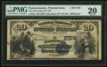 National Bank Notes:Pennsylvania, Punxsutawney, PA - $20 1882 Value Back Fr. 581 The Punxsutawney NBCh. # (E)5702. ...