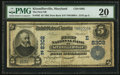 National Bank Notes:Maryland, Kitzmillerville, MD - $5 1902 Date Back Fr. 592 The First NB Ch. #(E)8302. ...