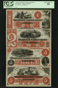 Obsoletes By State:Minnesota, Saint Paul, MN- Treasurer of Ramsey County $1-$2-$3-$5 HewittD1-2-D2-2-D3-2-D5-2 Uncut Sheet. ...
