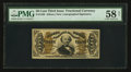 Fractional Currency:Third Issue, Fr. 1330 50¢ Third Issue Spinner PMG Choice About Unc 58 Net.. ...
