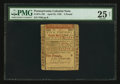 Colonial Notes:Pennsylvania, Pennsylvania April 25, 1759 £5 PMG Very Fine 25 Net.. ...