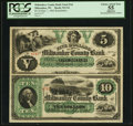 Obsoletes By State:Wisconsin, Milwaukee, WI- Milwaukee County Bank $5-$10 Sep. 1, 1862 G2-G4 Krause X1 Uncut Sheet. ...