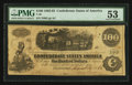 Confederate Notes:1862 Issues, T40 $100 1862 PF-1 Cr. 298/300.. ...