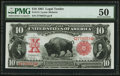 Fr. 114 $10 1901 Legal Tender PMG About Uncirculated 50