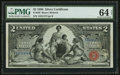 Large Size:Silver Certificates, Fr. 248 $2 1896 Silver Certificate PMG Choice Uncirculated 64 Net.. ...