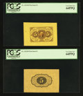 Fractional Currency:First Issue, Fr. 1231SP 5¢ First Issue Wide Margin Pair PCGS Very Choice New 64.. ... (Total: 2 notes)