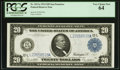 Large Size:Federal Reserve Notes, Fr. 1011a $20 1914 Federal Reserve Note PCGS Very Choice New 64.. ...