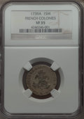 1739-A SOU M French Colonies Sou Marque VF35 NGC. NGC Census: (2/12). PCGS Population (0/23). ...(PCGS# 158671)