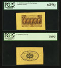 Fractional Currency:First Issue, Fr. 1282SP 25¢ First Issue Wide Margin Face PCGS Gem New 66PPQ. Fr. 1282SP 25¢ First Issue Wide Margin Back PCGS Superb Ge... (Total: 2 notes)