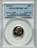 Proof Roosevelt Dimes, 1976-S 10C PR70 Deep Cameo PCGS. PCGS Population (275). NGC Census:(7). Numismedia Wsl. Price for problem free NGC/PCGS c...