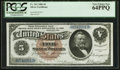 Large Size:Silver Certificates, Fr. 263 $5 1886 Silver Certificate PCGS Very Choice New 64PPQ.. ...