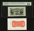 Fractional Currency:Third Issue, Fr. 1272SP 15¢ Third Issue Wide Margin Pair PMG Choice Uncirculated 64.. ... (Total: 2 notes)