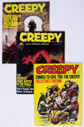 Magazines:Horror, Creepy Group of 45 (Warren, 1964-82) Condition: Average FN/VF.... (Total: 45 Comic Books)