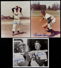Baseball Collectibles:Photos, Dodgers Greats Signed Photographs Lot of 3....