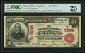 National Bank Notes:West Virginia, Hinton, WV - $10 1902 Red Seal Fr. 614 The NB of Summers of Hinton Ch. # (S)7998. ...