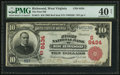 National Bank Notes:West Virginia, Richwood, WV - $10 1902 Red Seal Fr. 615 The First NB Ch. #(S)8434. ...