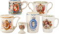 Miscellaneous:Ephemera, Group of six cups, three china and three ceramic, commemorating thecoronation of Edward VIII, 1937.. ... (Total: 5 Items)