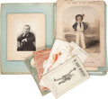 Miscellaneous:Ephemera, Group of Paper Memorabilia Relating to Victorian Entertainers, including: Henry James Byron (1835-1884), the prolific En... (Total: 3 Items)