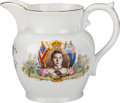 Miscellaneous:Ephemera, Aynsley. Bone china tea pitcher. Coronation of King EdwardVIII. 1937.. ...