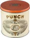 Miscellaneous:Ephemera, Lily Size Punch Cigar Co. tobacco tin, ca. 1890.. ...