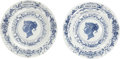 Miscellaneous:Ephemera, Royal Worcester. Pair of ceramic plates. Jubilee Year [and:]Victoria Dei Gratia, 1887.. ... (Total: 2 Items)