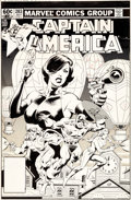 Original Comic Art:Covers, Mike Zeck and John Beatty Captain America #283 Cover Original Art (Marvel, 1983)....