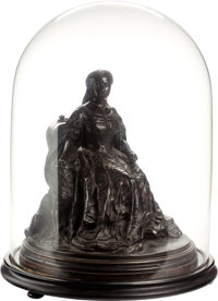 Sir Joseph Edgar Boehm. Queen Victoria and Sharp. Cast bronze within wood and glass dome. 18