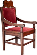 Miscellaneous:Ephemera, Mahogany and inlay Jubilee 1887 child's chair....