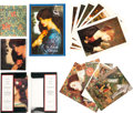 Miscellaneous:Gaming Chips, Two miniature books. The Pre-Raphaelite Vision and TheDesigns of William Morris, and a large assortme... (Total: 4Items)