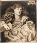 Miscellaneous:Ephemera, Monna Vanna. Photogravure after painting by Dante Rossetti(1828-1882), ca. 1900.. ...