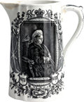 Miscellaneous:Ephemera, C.P. Co. Ltd.. Ceramic pitcher. Record Reign 1837-1897, BalmoralCastle. 1897.. ...