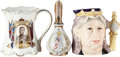 Miscellaneous:Ephemera, Group of Three Small Victorian Pitchers, including: Royal Doulton. Queen Victoria. 1987. Ceramic. 516/1500. ... (Total: 3 Items)