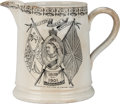Miscellaneous:Ephemera, In Commemoration of Queen Victoria's Great and Glorious Reign of63 years. Pottery pitcher. 1901.. ...
