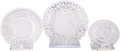 Miscellaneous:Ephemera, Three Small Clear Pressed Glass Dishes, commemorating the marriageof Victoria and Albert. 1840. ... (Total: 3 Items)