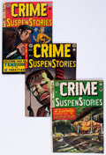 Golden Age (1938-1955):Crime, Crime SuspenStories Group of 5 (EC, 1951-55) Condition: Average VG/FN.... (Total: 5 Comic Books)